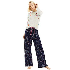 Oasis - Multi blue moon and star print trousers