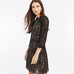 Oasis - Black prairie lace dress