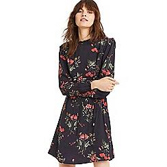 Oasis - Multi Blue Autumn Garden Blouse Dress