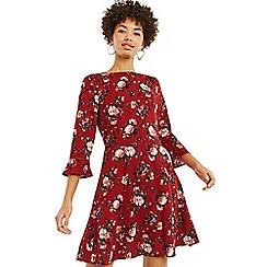 Oasis - Multicoloured Renaissance Rose Skater Dress