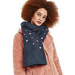 Oasis - Navy foil multi star scarf