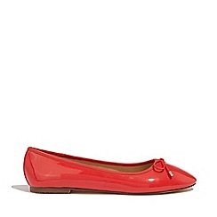 Oasis - Mid red patent ballet pumps