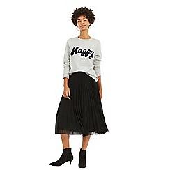 Oasis - Black Pleated Skirt