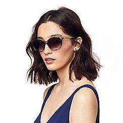 Oasis - Brown 'Mimi' Soft Cateye Sunglasses