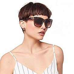 Oasis - Brown 'Alyssa' Chunky Wayfarer Sunglasses