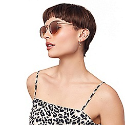 Oasis - Brown 'Holly' Metal Round Sunglasses