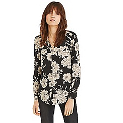 Oasis - Black and white bold bloom shirt