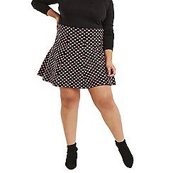 Oasis - Multi black curve 'Maggie' heart skirt