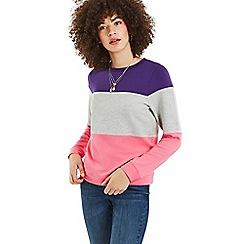 Oasis - Multi Bold Colourblock jumper