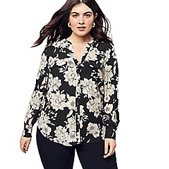 Oasis - Black and White Curve Bold Bloom Shirt