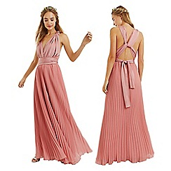Oasis - Pale pink wear it your way pleated maxi dress