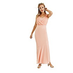 Oasis - Dusky pink 'Emily' slinky bow back maxi dress