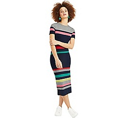 Oasis - Multi Rainbow Marl Stripe Tube Dress