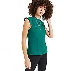 Oasis - Bright green frill shell top
