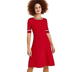 Oasis - Mid red 'Rosie' red knitted dress