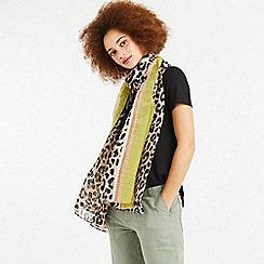 Oasis - Multi Crinkle Leopard Print Scarf