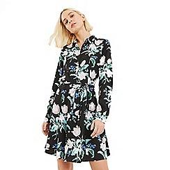 Oasis - Multi Black Petunia Floral Shirt Dress