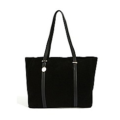 Oasis - Black Leather 'Eastwest' Tote