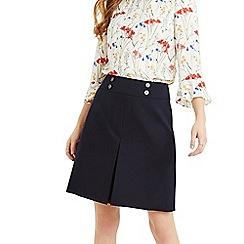 Oasis - Navy Button Detail Skirt