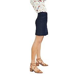 Oasis - Dark Wash Angle Pocket Mini Skirt