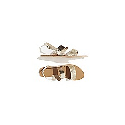 Warehouse - Leather contrast band sandals