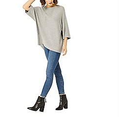 Warehouse - Rib panel knitted top