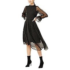Warehouse - Devore spot midi dress