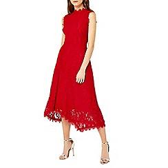 Warehouse - Lace midi dress