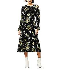 Warehouse - Spaced sprig midi dress
