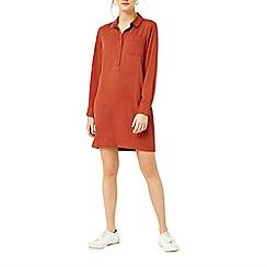 Warehouse - Popper placket shirt dress