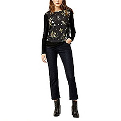 Warehouse - Sprig floral woven front top