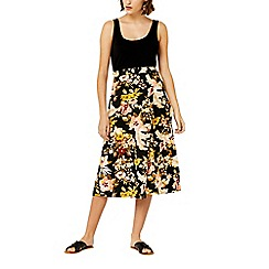 Warehouse - Hibiscus d-ring skirt