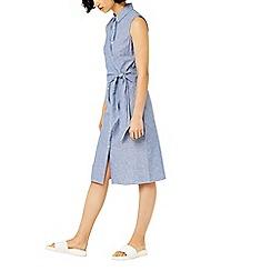 Warehouse - Stripe tie side shirt dress