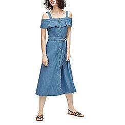 Warehouse - Cold shoulder midi dress