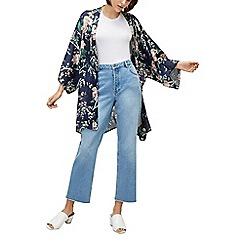 Warehouse - Blue Toile De Jour floral print kimono