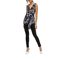 Warehouse - Knot front bamboo top