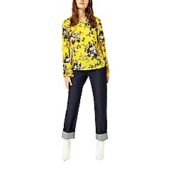 Warehouse - Trailing floral pleat cuff top