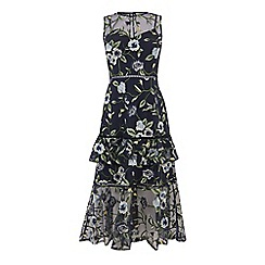 Warehouse - Anais tiered embroidered dress