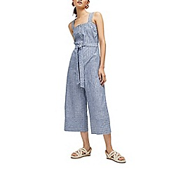Warehouse - Button through stripe jumpsuit