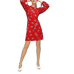 Warehouse - Fan floral babydoll dress