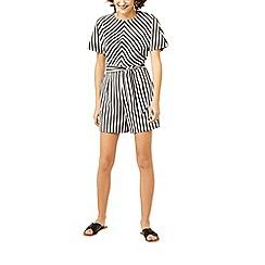 Warehouse - Cotton stripe playsuit