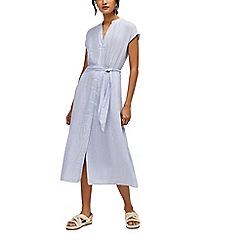 Warehouse - Stripe shirt midi dress