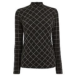 Warehouse - Warmhandle check polo neck t-shirt