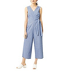 Warehouse - Stripe wrap jumpsuit