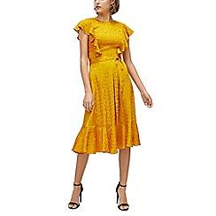 Warehouse - Jacquard midi dress