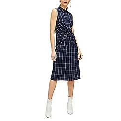 Warehouse - Check knot front shirt dress