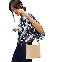 Warehouse - Leather top zip crossbody bag