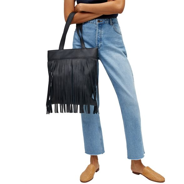 Leather Leather shopper fringe bag Warehouse shopper Warehouse fringe ZOwxqUqfE