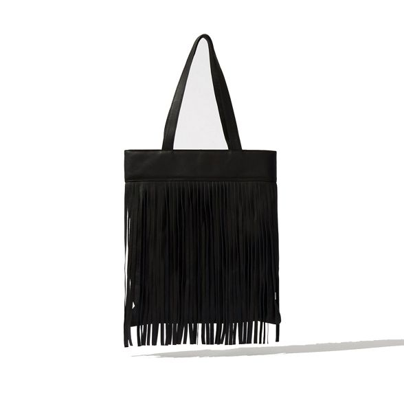 Leather fringe Warehouse shopper Warehouse bag Leather qxv6UnwF