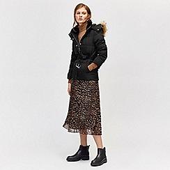 Warehouse - Short belted padded coat